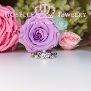 Crown Side Stone Engagement Ring - TN1