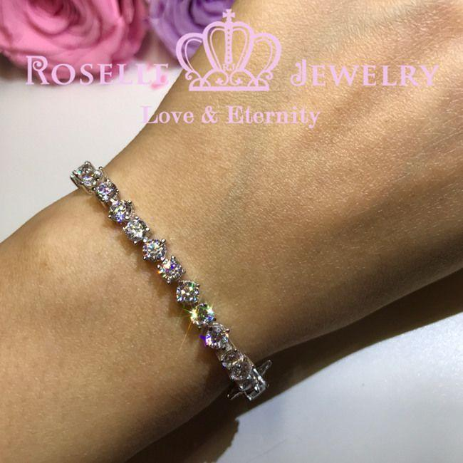Round Brilliant Cut Tennis Bracelet - B202 - Roselle Jewelry
