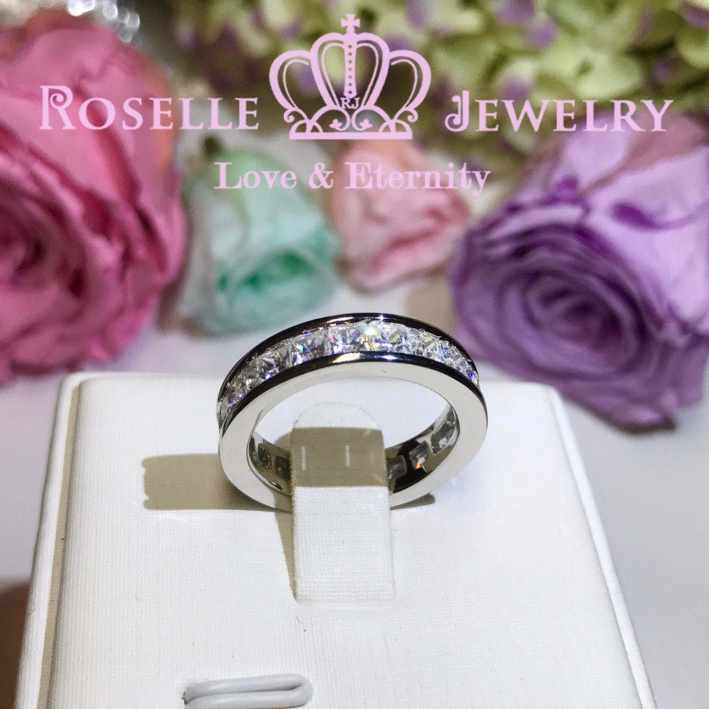 Princess Cut Eternity Fashion Ring - BA23 - Roselle Jewelry