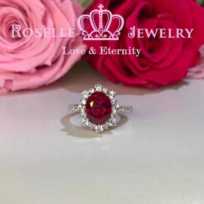 Oval Halo Engagement Rings - OR1 - Roselle Jewelry