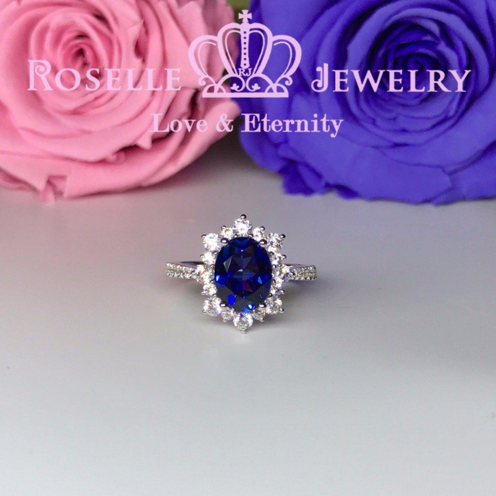 Oval Halo Engagement RIng - OS1 - Roselle Jewelry