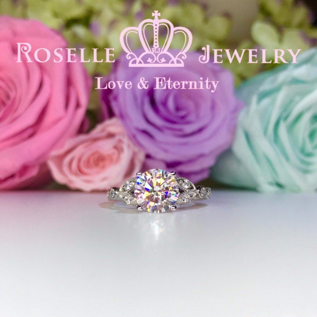 Vintage Floral Engagement Rings - V18 - Roselle Jewelry