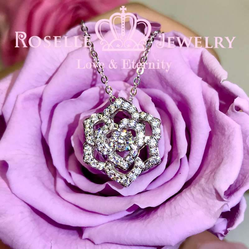 Floral Dancing Stone Pendants - CD10 - Roselle Jewelry