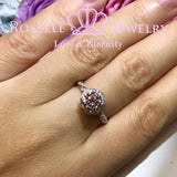 Floral Vintage Engagement Ring - V21
