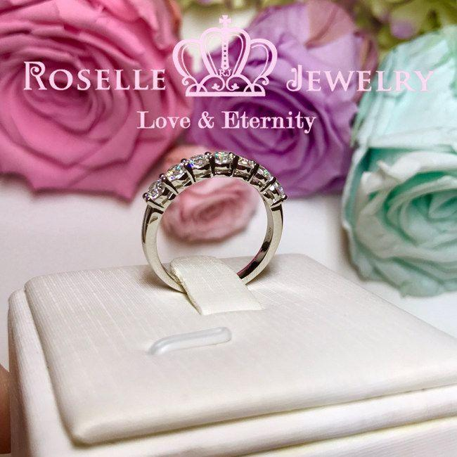 Seven Stone Common Prong Wedding Ring - BA10 - Roselle Jewelry