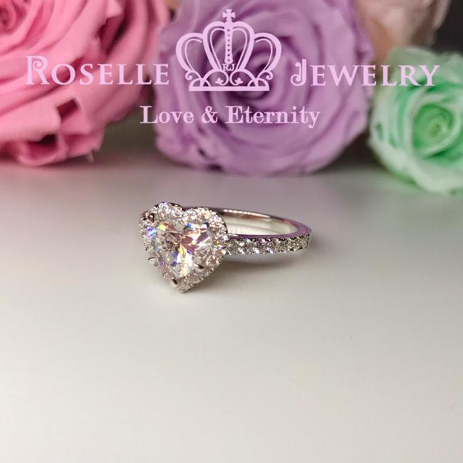 Heart Shape Halo Engagement Ring - VH2 - Roselle Jewelry