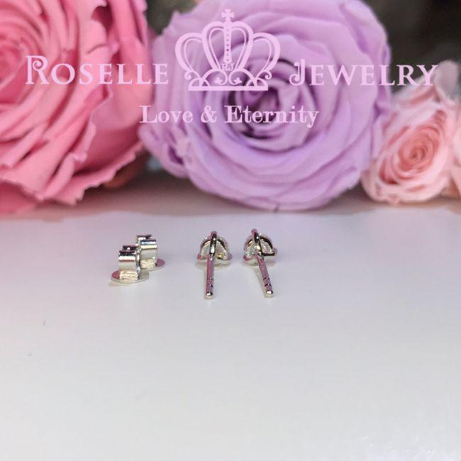 Three Prong Stud Earrings - R30 - Roselle Jewelry