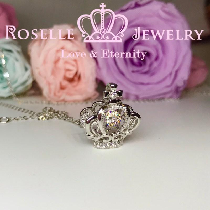 Crown Dancing Stone Pendants - CD7 - Roselle Jewelry