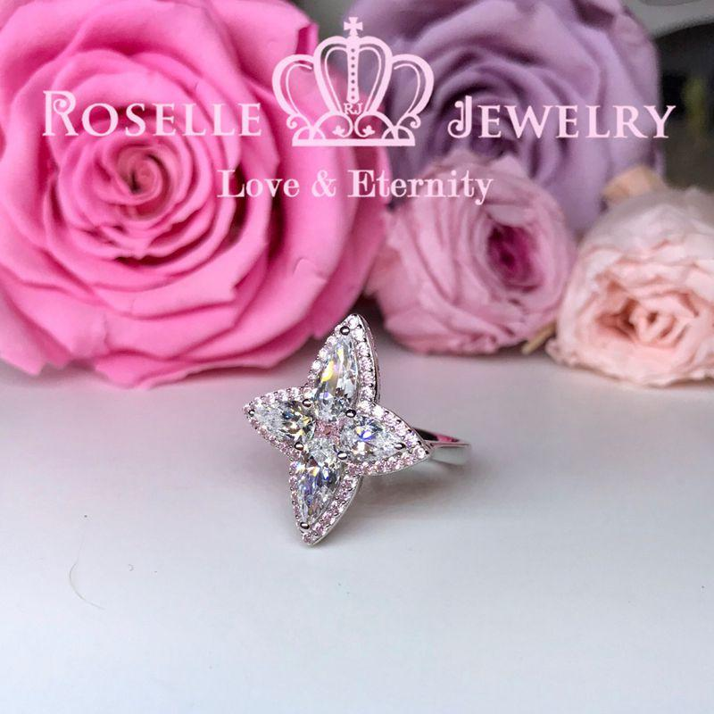 Pear Shape Pink Star Engagement Ring - TP2 - Roselle Jewelry