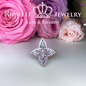 Pear Shape Pink Star Engagement Ring - TP2