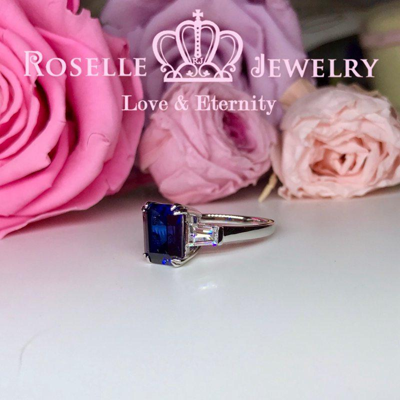 Lab Grown Sapphire Three Stone Engagement Rings - TS2 - Roselle Jewelry