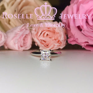 Princess Cut Solitaire Engagement Ring - NS2