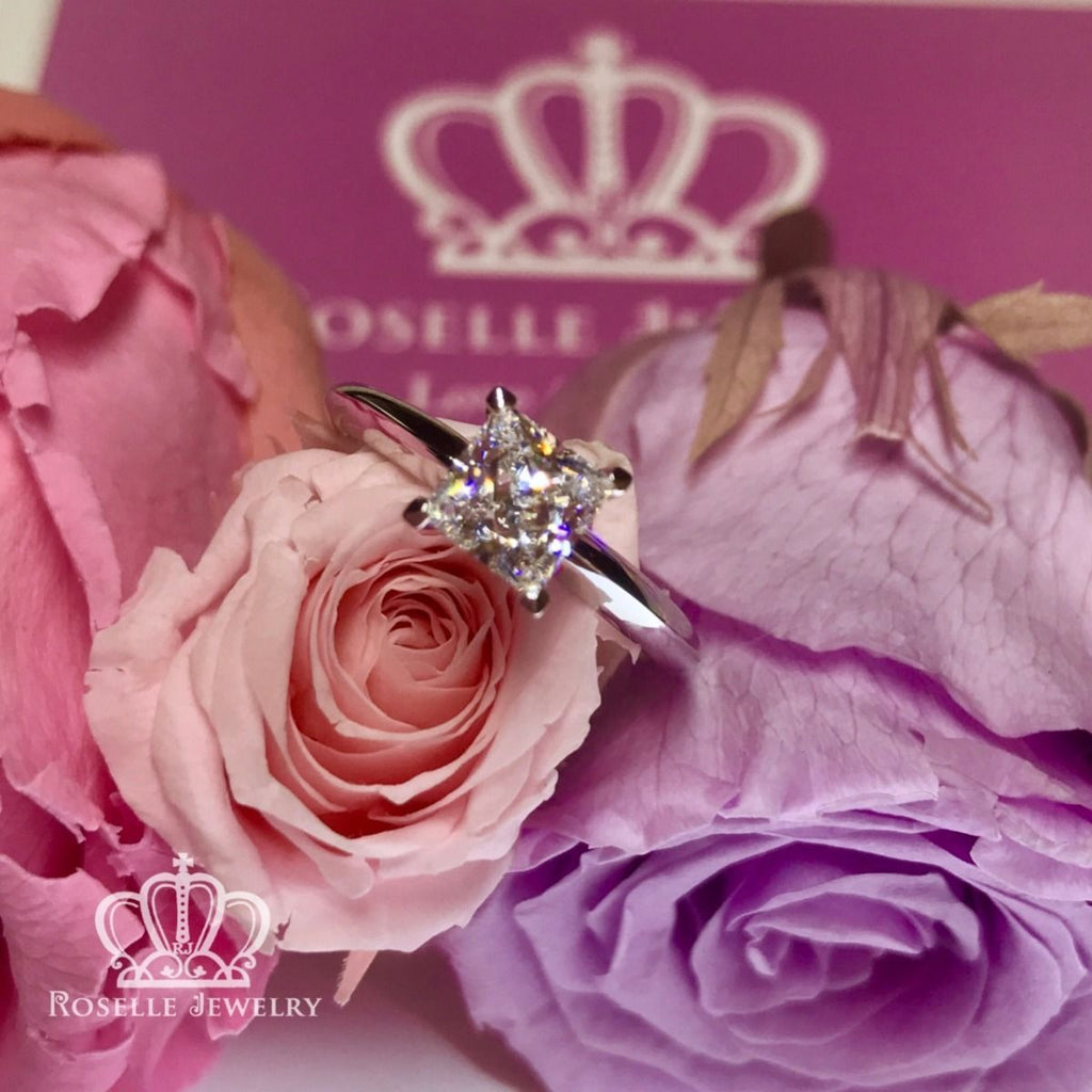 Princess Cut Solitaire Engagement Ring - NS2 - Roselle Jewelry
