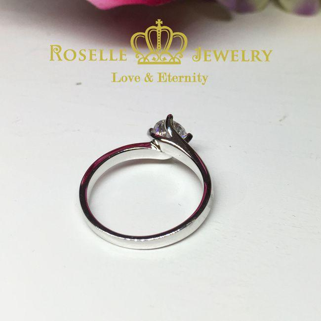 Four Prong Twist Solitaire Engagement Ring - NT4 - Roselle Jewelry