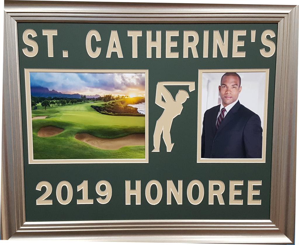 Customized Award for Golf Outing Honoree