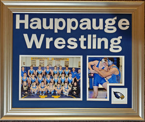 Hauppauge Wrestling Double Panel with Logo