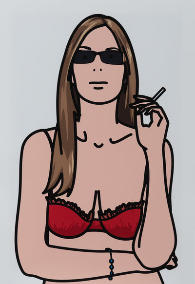 Ruth smoking 4.  TWENTY SIX PORTRAITS BY JULIAN OPIE