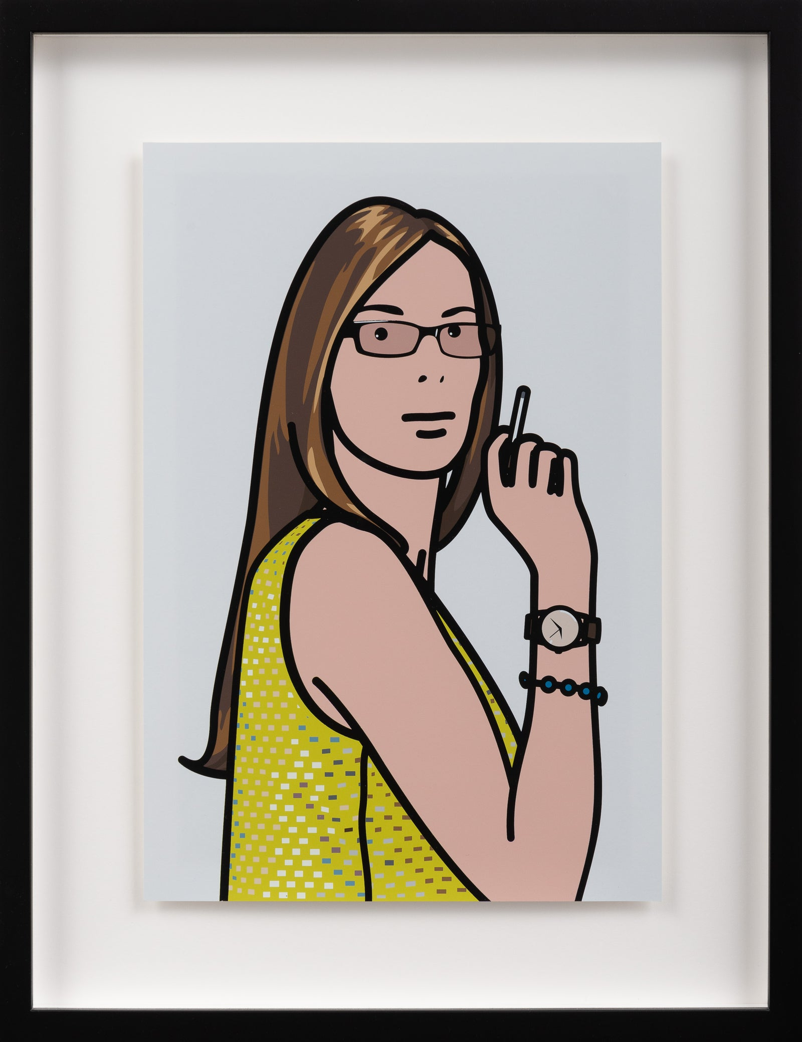 Ruth smoking 2.  TWENTY SIX PORTRAITS BY JULIAN OPIE