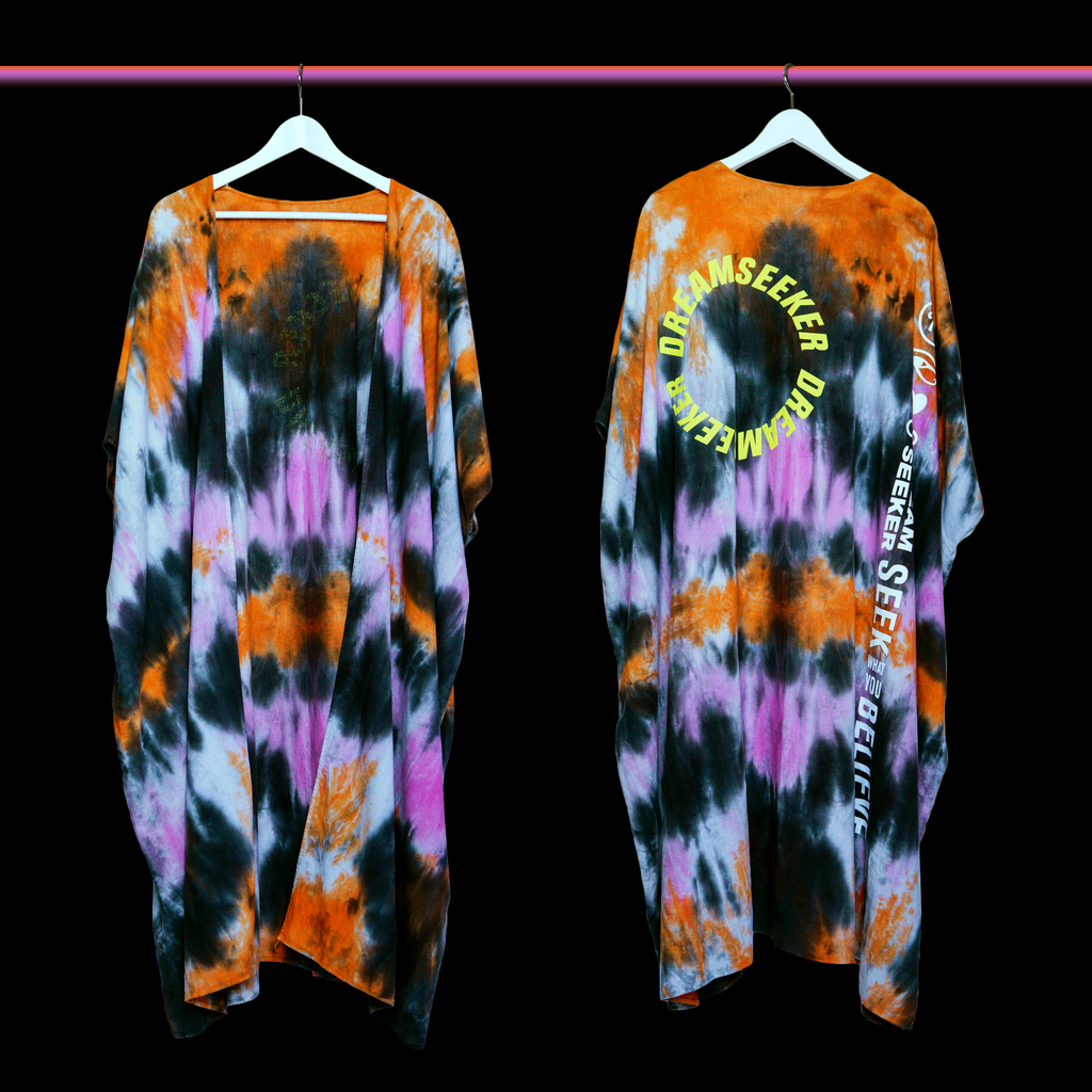 Seek What You Believe Tye Dye Kimono