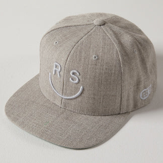 Grey 3D Vibe Logo Hat
