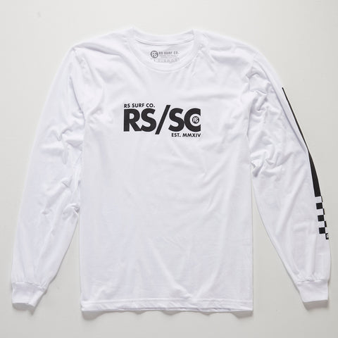 Check Sleeve Logo Tee
