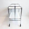 1960s chrome serving trolley