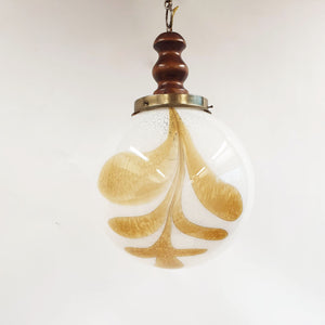 Vintage Murano glass ball hanging light