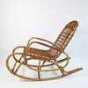 1970s Italian rattan and bamboo rocking chair (5641427157154)