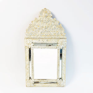 Vintage decorative faceted mirror (5730167947426)