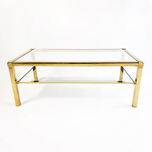 Classic 1970s brass and glass coffee table (5639819034786)