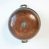 Antique copper vat with brass handles