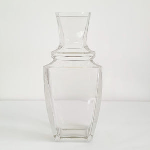1960s crystal flower vase