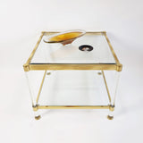 Original 1970s glass and brass Italian coffee table (5710956626082)