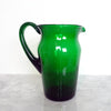 Emerald green Italian vintage glass carafe (4587008786476)