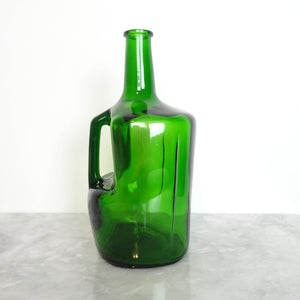 Italian green glass utility bottle (4586951835692)