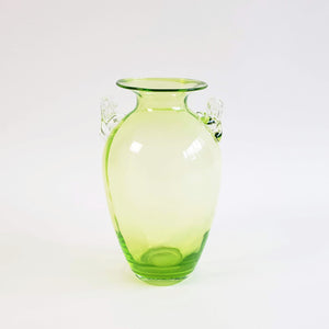 Vintage light green glass vase