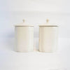 Pair of Italian vintage coffee and sugar ceramic jars