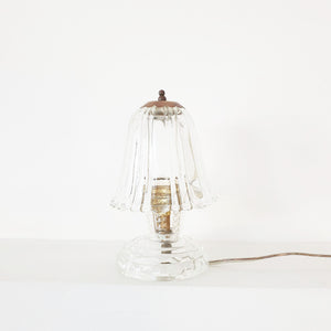 Mid-century small glass table lamps