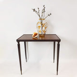 1960s nest of three wooden side tables