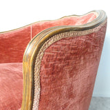 Mid-century Italian velvet club chair (1860648730659)