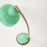 Small vintage green table lamp