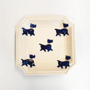 Unique ceramic vintage plate