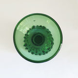 Vintage Empoli green glass vase