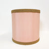 Large vintage pink silk lamp shade