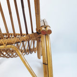 Vintage rattan and bamboo armchair (4442694680620)