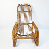 Vintage rattan and bamboo armchair