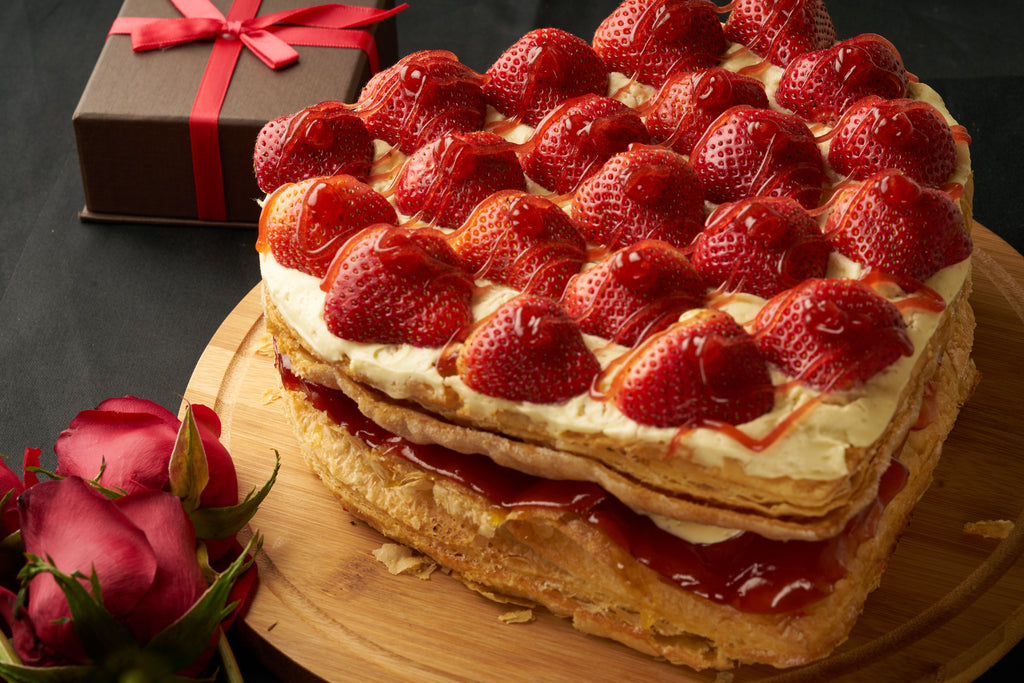 Heart shaped Strawberry Strudel (9 inches)
