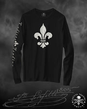 Jean Lafitte~Fleur de Lis'-Women's Long Sleeve T Shirt