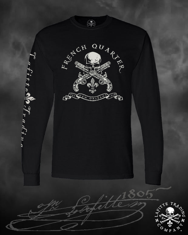 Men's Long Sleeve T Shirt - Jean Lafitte~French Quarter