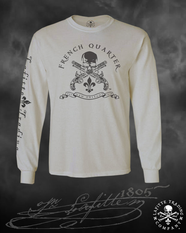Men's Long Sleeve T Shirt - Jean Lafitte ~ French Quarter